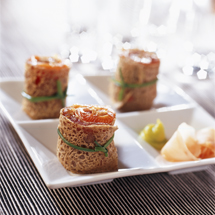 Sushis de crêpes au saumon -Photo Jean-François Hamon et Myriam Darmoni pour Francine