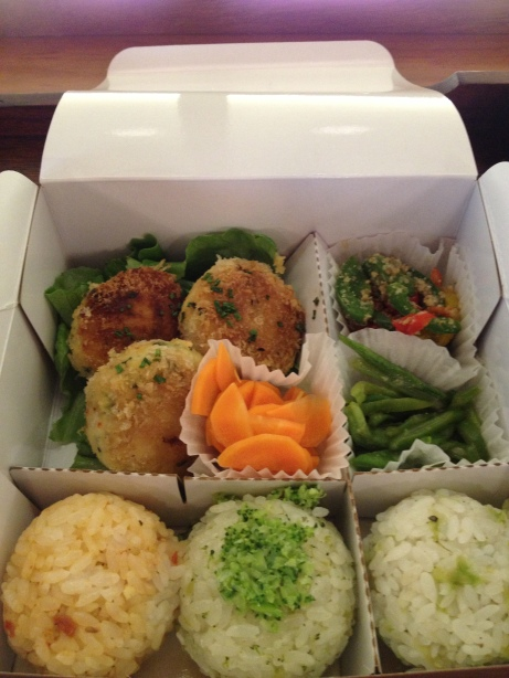 Omussubi aux croquettes de tofu