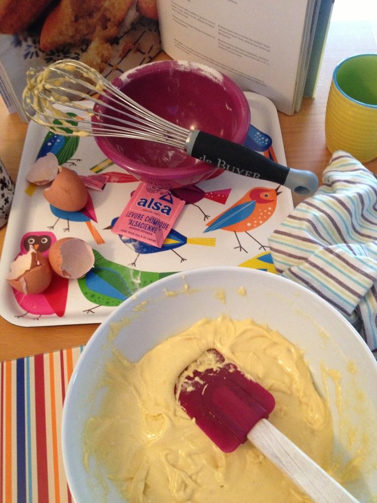 Madeleines à la cannelle La pâte avant cuisson