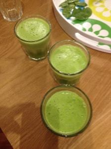 Du jus de légumes bien vert
