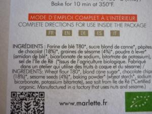 Marlette, des ingrédients bio