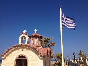 Chapelle en bord de mer à Analipsi