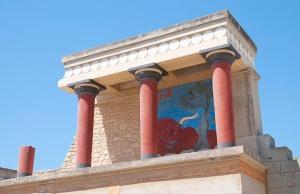 Temple de Knossos et fresque des dauphins