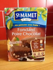 Fondant Poire-chocolat St-Mamet