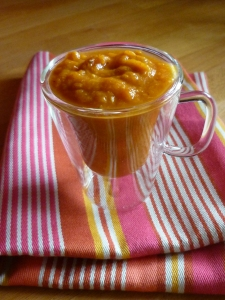 Soupe tomate-banane-curry