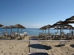 La plage privée de Coccaro Beach.