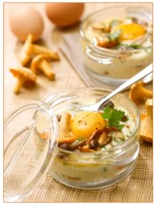 Pâques 2014 - Oeufs, Oeufs cocotte - champignons