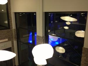 Le bassin vue de nuit et toujours les nuages... Hôtel Les Bains de Cabourg Thalazur