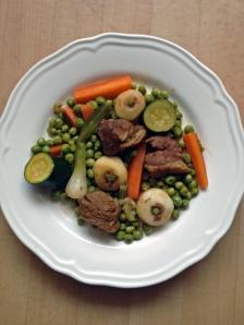 recette de pâques - recette de printemps - Navarin d'agneau -petits pois - carotte- navet