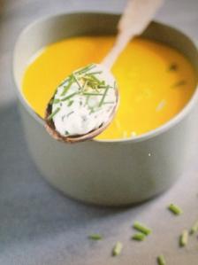 Velouté carotte au fromage frais