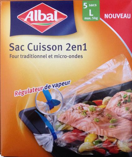 Le nouveau sac cuisson 2en1 passe au four et au micro-ondes.