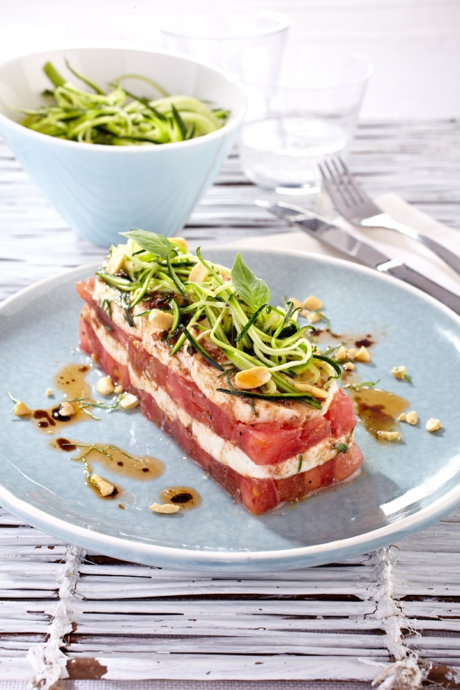 Millefeuille tomate-mozza (copyright Puget)