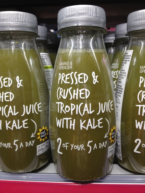 Green Smoothie au Kale chez Marks and Spencer