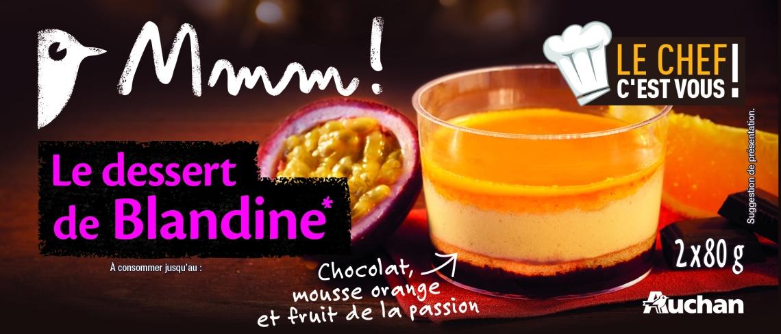 Auchan Le chef C'est vous, le dessert de Blandine