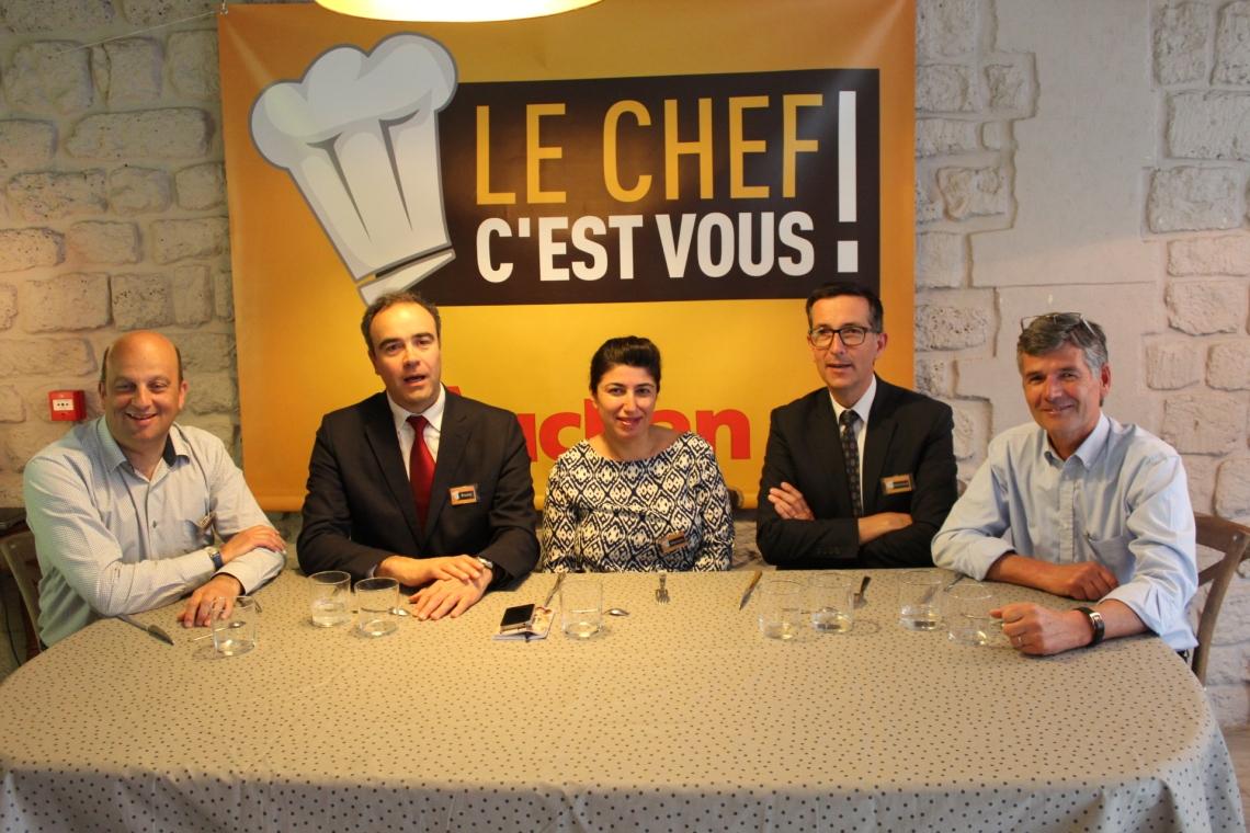 Le Jury du concours Le Chef C'est vous ! organisé par Auchan.