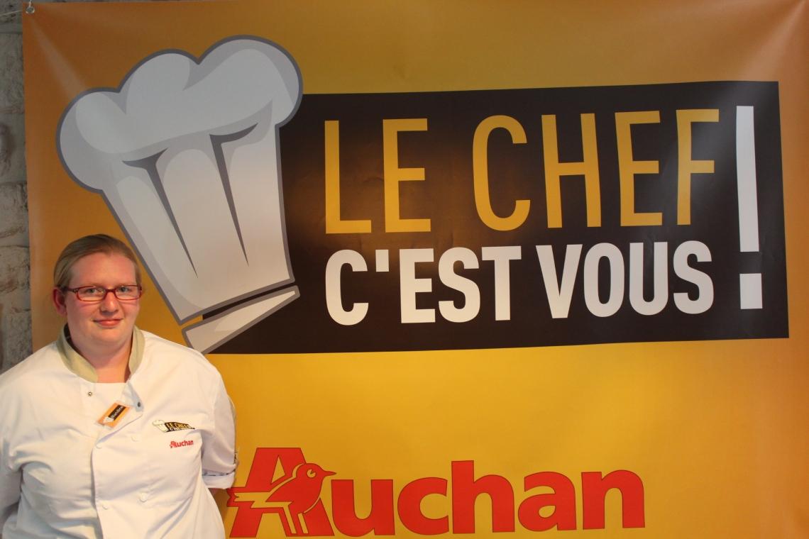 Blandine, la Gagnante du concours Le Chef C'est Vous organisé par Auchan !