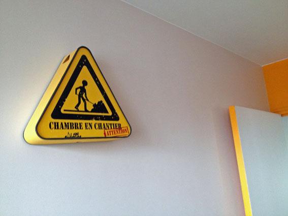 """Une applique """"Chambre en Chantier"""" pour annoncer le début des travaux !"""