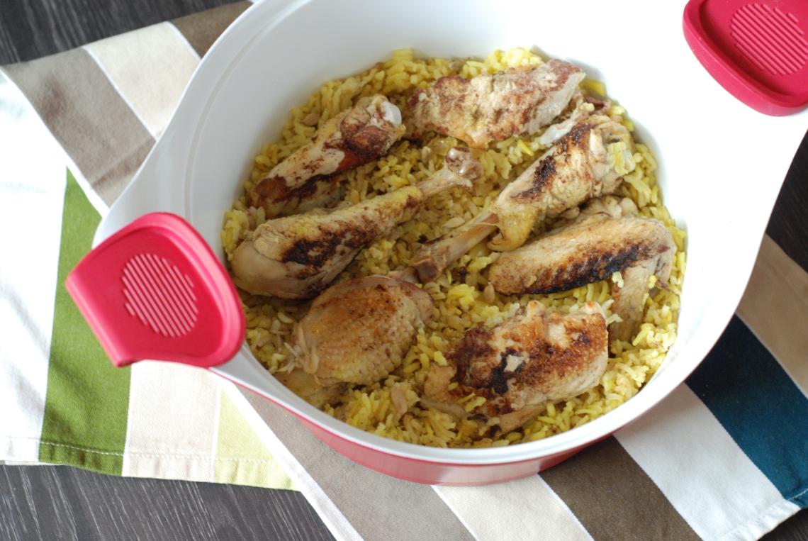 Poulet au riz aux épices