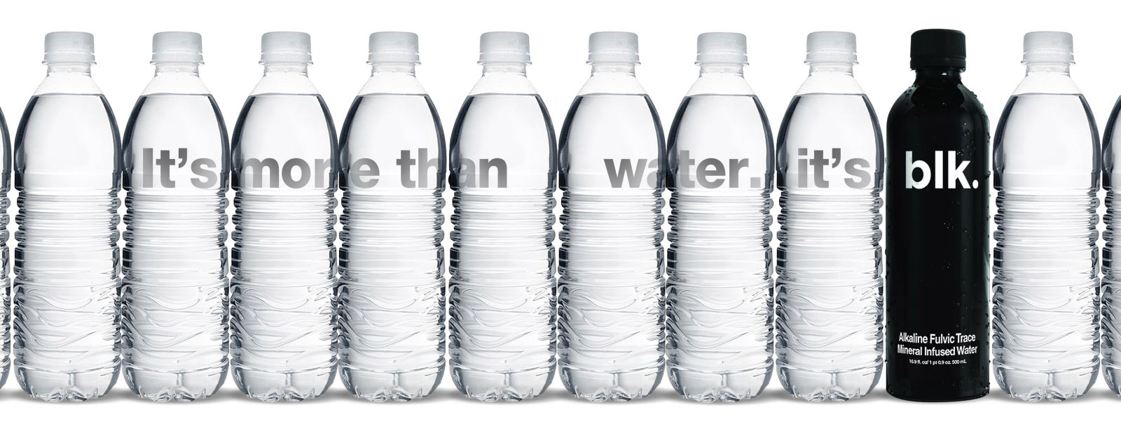 blk, l'eau minérale noire