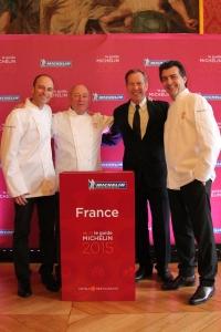 Yannick Alléno et Réné et Maxime Meilleur, nouveaux 3 étoiles Michelin 2015©Goutdefood by Myriam Darmoni