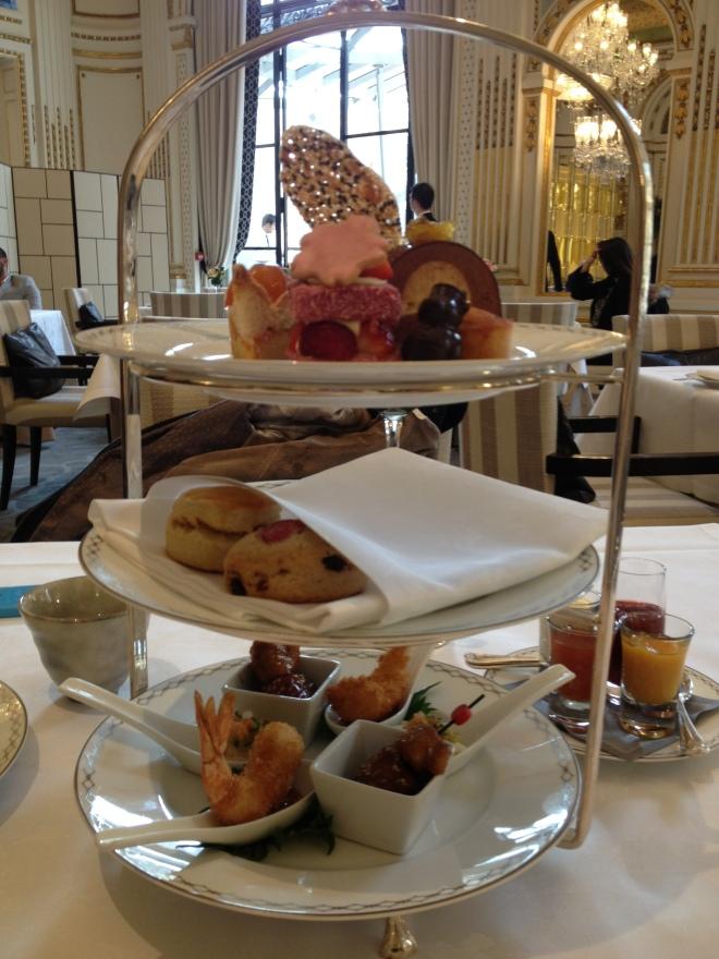 Le tea time japonais du Peninsula Paris.