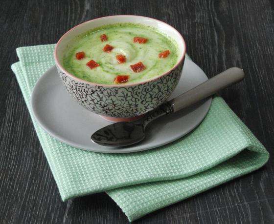 Velouté de chou-fleur au persil et chorizo, une soupe bientôt commercialisée par Auchan.