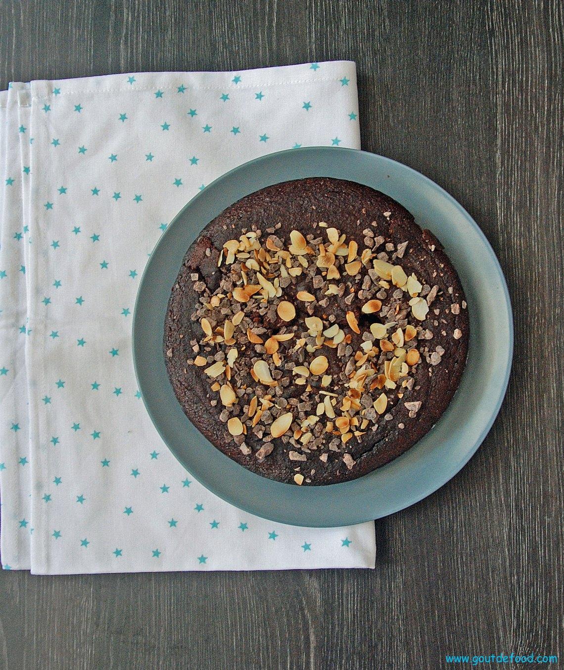 La gâteau au chocolat SANS sucre, farine, beurre.