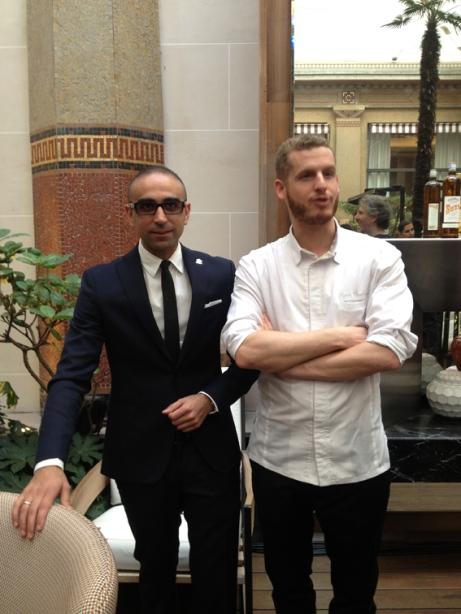 Christopher Gaglione, chef barman et Yann Couvreur, Chef pâtissier