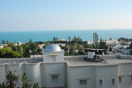 Vue sur Carthage de la Villa Didon, un très bel hôtel contemporain.