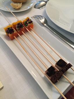 Pic foie gras et saumon
