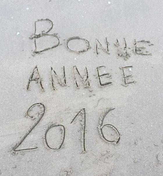 Bonne Année - 2016 - plage - Cabourg - Myriam Darmoni - Cabourg