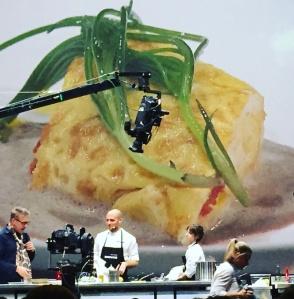 Omelette aux langues d'oursins, beurre blanc aux algues, Giovanni Passerini