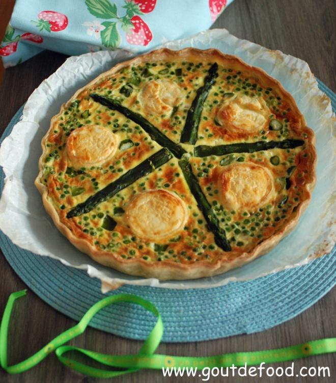 Une belle tarte aux asperges pour fêter l'arrivée du printemps