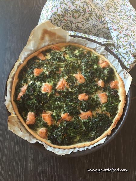 Tarte kale après