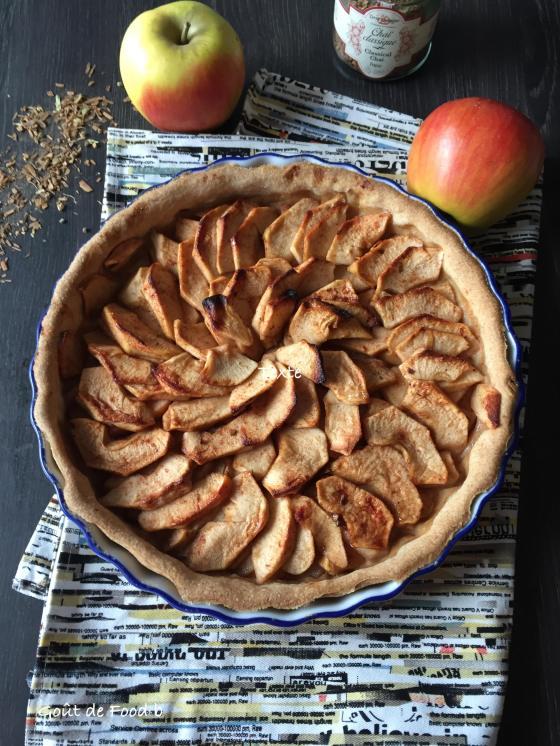 Tarte aux pommes au épices chaï - Goût de Food - Myriam Darmoni