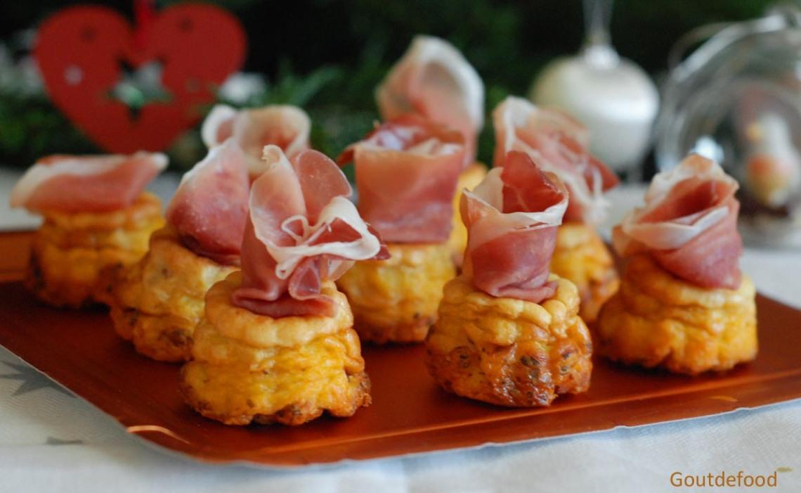 Cannelé - Cannelés salés - Cannelés au jambon - Jambon de Parme