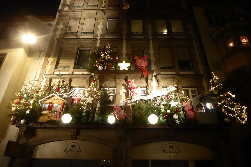Strasbourg - Noël - Boucherie Porcus