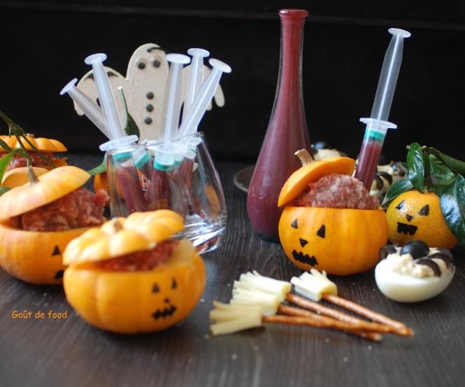Halloween - citrouilles farcies
