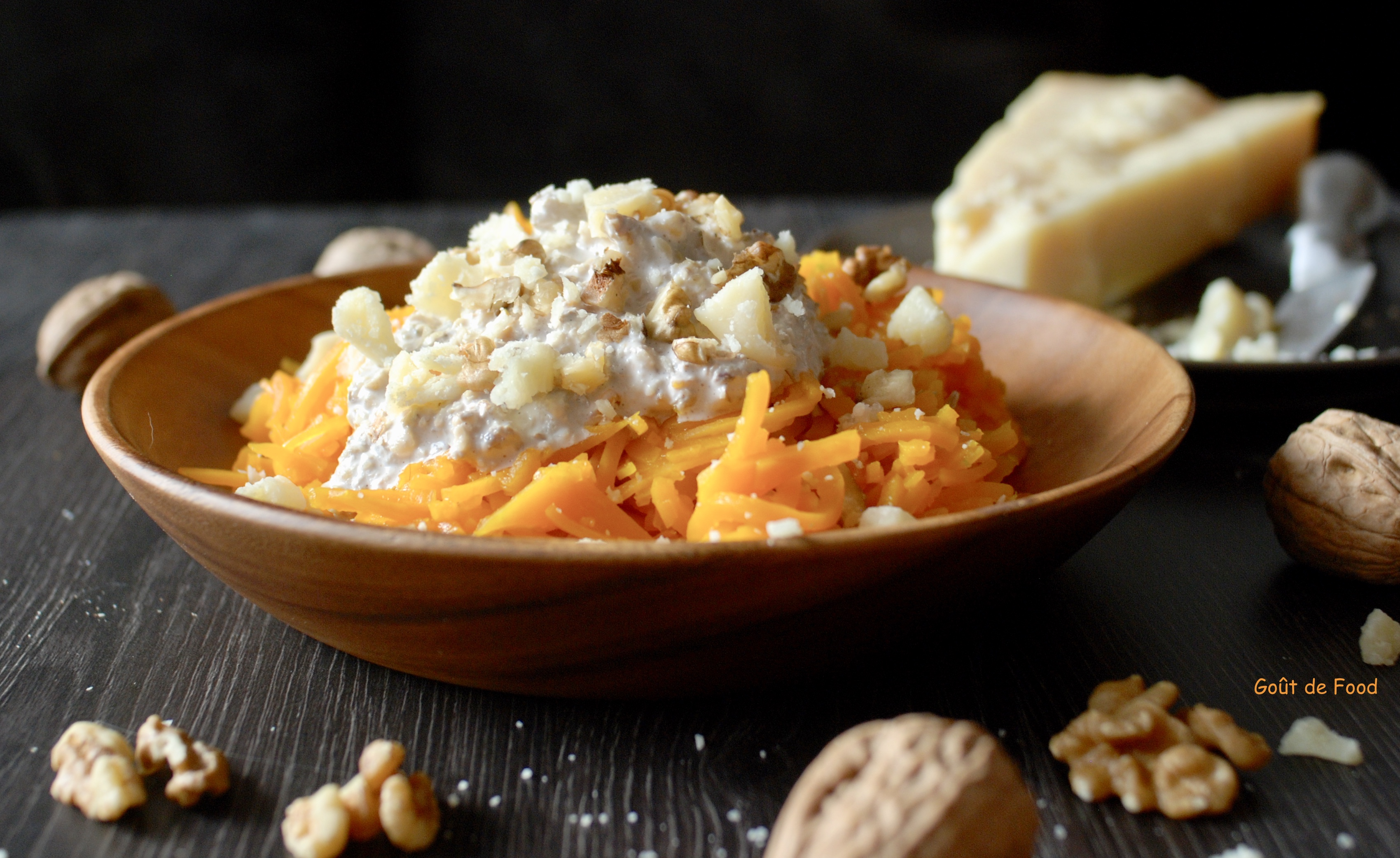 Spaghetti de Butternut à la crème de noix et grana padano