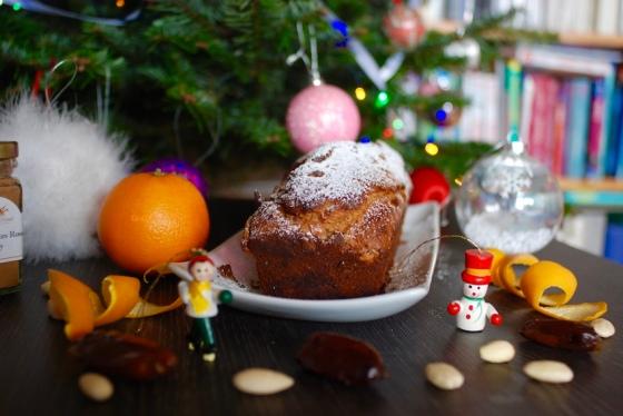 cake de noel sans beurre sans sucre